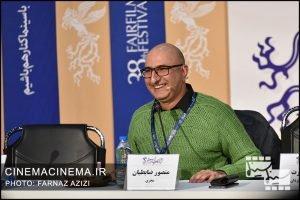 منصور ضابطیان در نشست خبری عوامل فیلم شنای پروانه در سی و هشتمین جشنواره فیلم فجر