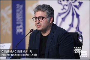 عباس امینی در نشست خبری عوامل فیلم «کشتارگاه» در سی و هشتمین جشنواره فیلم فجر