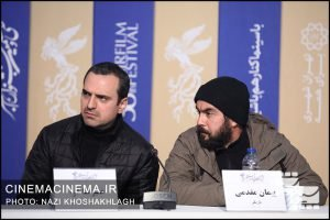 عوامل فیلم «مردن در آب مطهر» در نشست خبری ششمین روز سی و هشتمین جشنواره فیلم فجر