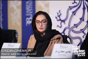 نیکی کریمی در نشست خبری عوامل فیلم «آتابای» در هفتمین روز سی و هشتمین جشنواره فیلم فجر