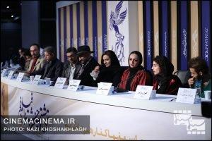 نشست خبری عوامل فیلم «پدران» در هشتمین روز سی و هشتمین جشنواره فیلم فجر