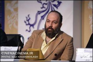 علی اوجی در نشست خبری فیلم «سینما شهر قصه» در دهمین روز سی و هشتمین جشنواره فیلم فجر