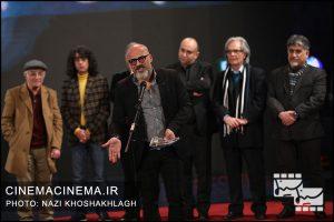 امیر آقایی در آیین اختتامیه سی و هشتمین جشنواره فیلم فجر