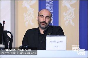 محسن تنابنده در نشست خبری عوامل فیلم سه کام حبس در سی و هشتمین جشنواره فیلم فجر