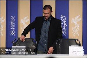 امیر جدیدی در نشست خبری عوامل فیلم «روز صفر» در سی و هشتمین جشنواره فیلم فجر