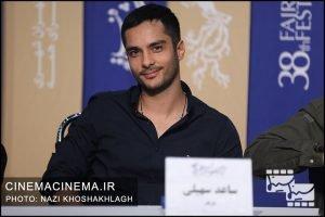 ساعد سهیلی در نشست خبری عوامل فیلم «روز صفر» در سی و هشتمین جشنواره فیلم فجر