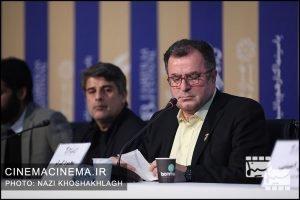 نشست خبری عوامل فیلم «کشتارگاه» در سی و هشتمین جشنواره فیلم فجر