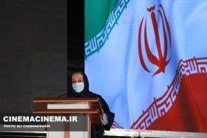 مرضیه برومند در آیین تجلیل از افتخارآفرینان سینمای ایران در عرصه بینالملل