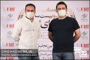 برادران محمودی در فرش قرمز آیین تجلیل از افتخارآفرینان سینمای ایران در عرصه بینالملل