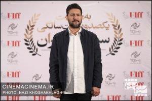 حامد بهداد، بازیگر در فرش قرمز آیین تجلیل از افتخارآفرینان سینمای ایران در عرصه بینالملل