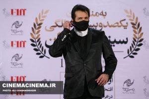 حسام نواب صفوی، بازیگر در آیین تجلیل از افتخارآفرینان سینمای ایران در عرصه بینالملل