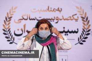 فاطمه معتمدآریا، بازیگر در آیین تجلیل از افتخارآفرینان سینمای ایران در عرصه بینالملل