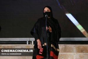 نرگس آبیار، کارگردان، برای فیلم وقتی که ماه کامل شد در آیین تجلیل از افتخارآفرینان سینمای ایران در عرصه بینالملل