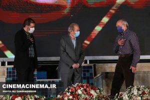 محمدعلی نجفی، علی نصیریان و علی ماهر در آیین تجلیل از افتخارآفرینان سینمای ایران در عرصه بینالملل