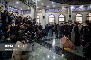 مراسم اقامه نماز بر پیکر محمدرضا شجریان