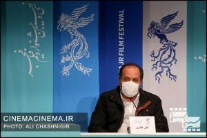 علی غفاری در نشست خبری فیلم تک تیرانداز در سی و نهمین جشنواره فیلم فجر