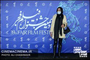 نازنین فراهانی در فوتوکال فیلم مصلحت در سی و نهمین جشنواره فیلم فجر