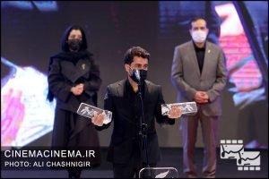 ارسلان امیری در مراسم اختتامیه سی و نهمین جشنواره فیلم فجر