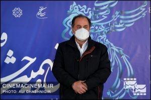 علی غفاری در فتوکال فیلم تک تیرانداز در سی و نهمین جشنواره فیلم فجر