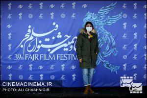 ندا کوهی در فوتوکال فیلم مصلحت در سی و نهمین جشنواره فیلم فجر