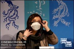مهلقا باقری در نشست خبری فیلم شیشلیک در سی و نهمین جشنواره فیلم فجر