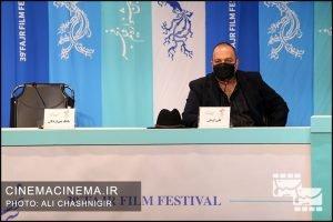 علی اوجی در نشست خبری فیلم روزی روزگاری آبادان در سی و نهمین جشنواره فیلم فجر