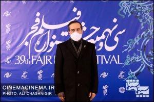 حسین انتظامی رییس سازمان سینمایی در سی و نهمین جشنواره فیلم فجر