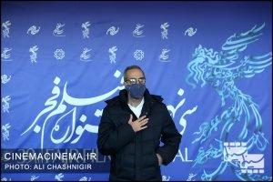 امیر مهدی ژوله در فوتوکال فیلم شیشلیک در سی و نهمین جشنواره فیلم فجر