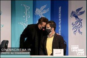 نشست خبری فیلم گیجگاه در سی و نهمین جشنواره فیلم فجر