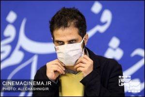 عادل تبریزی در فوتوکال فیلم گیجگاه در سی و نهمین جشنواره فیلم فجر