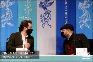 محمدحسین قاسمی و بهرام رادان در نشست خبری فیلم ابلق در سی و نهمین جشنواره فیلم فجر