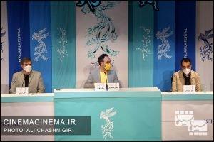 از راست هاتف علیمردانی، محمدرضا مقدسیان و علی سرتیپی در نشست خبری فیلم ستاره بازی در سی و نهمین جشنواره فیلم فجر