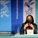 فرنوش صمدی در نشست خبری فیلم خط فرضی در سی و نهمین جشنواره فیلم فجر