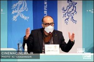 روح الله حجازی در نشست خبری روشن در سی و نهمین جشنواره فیلم فجر