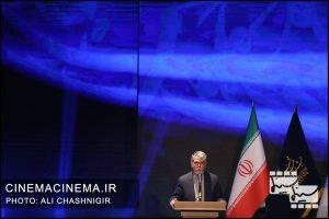 سیدعباس صالحی، وزیر فرهنگ و ارشاد اسلامی در مراسم اختتامیه سی و نهمین جشنواره فیلم فجر