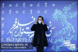 آزیتا حاجیان در فوتوکال فیلم خط فرضی در سی و نهمین جشنواره فیلم فجر