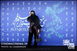 سحر دولت شاهی در فوتوکال فیلم خط فرضی در سی و نهمین جشنواره فیلم فجر