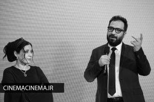 بهتاش صناعی ها و مریم مقدم در اکران قصیده گاو سفید در هفتاد و یکمین جشنواره فیلم برلین