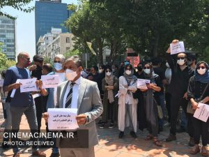 تجمع سینماگران در حمایت از مردم خوزستان