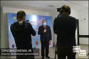 علیرضا تابش مدیرعامل بنیاد سینمایی فارابی در چهارمین روز سی و چهارمین جشنواره فیلم کودک و نوجوان