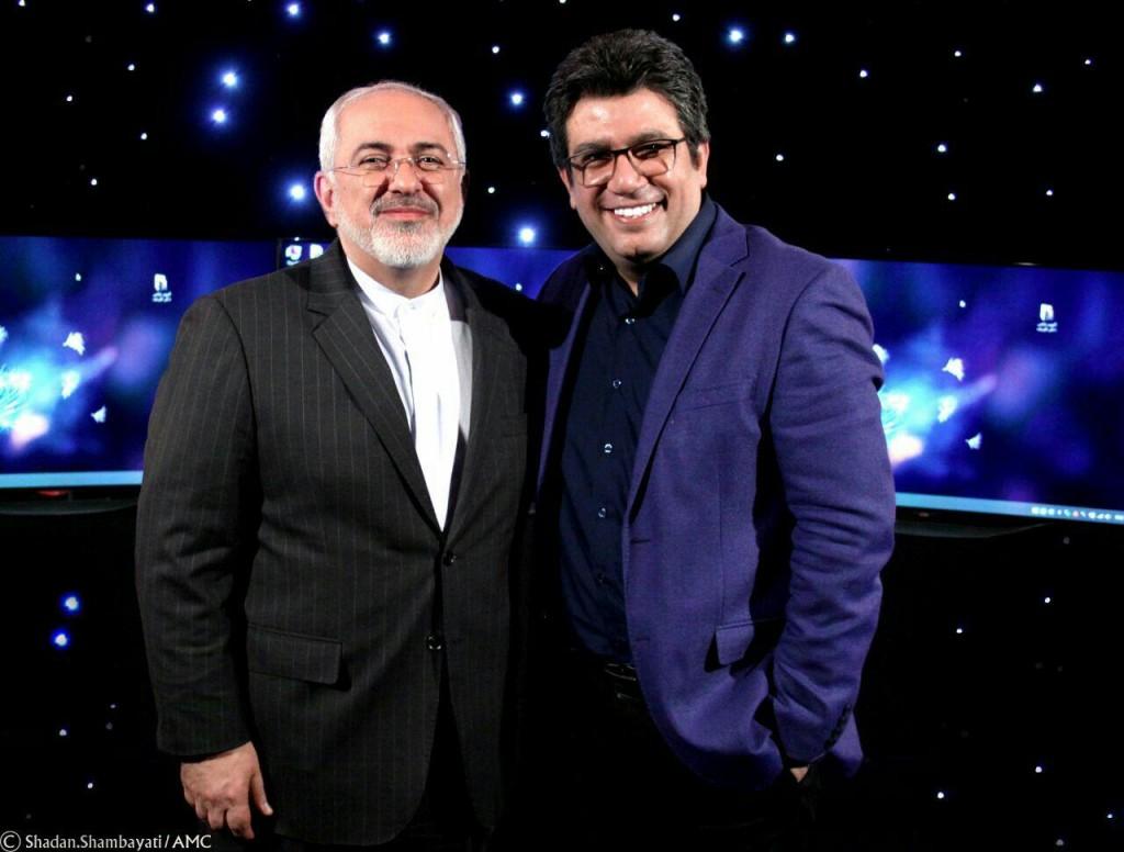 رضا رشیدپور و محمدجواد ظریف در برنامه دید در شب