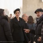 سام مندس کارگردان و مونیکا بلوچی در پشت صحنه فیلم «اسپکتر»
