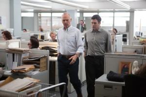 مایکل کیتن و مارک روفالو در فیلم مرکز توجه